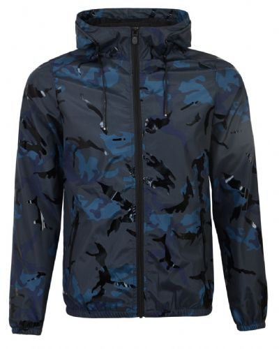 Fargo  Mens Designer Camouflage  Hooded Wind Runner Jacket  Blue
